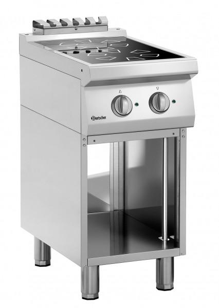 2 Kochstellen Induktionsherd mit eingebauten Fettfilter B400
