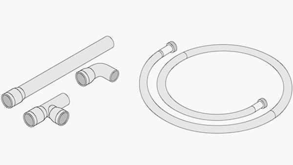 Geräteanschlusskit für VarioCookingCenter Typ 112,211,311 (Kalt- und Abwasser)