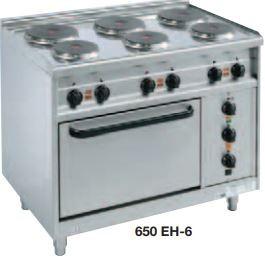 Elektroherde mit runden Kochplatten Bautiefe 650 mm EST-6