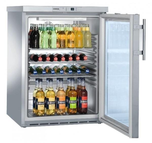 Umluft-Glastür-Kühlschrank FKUv 1660 CHR