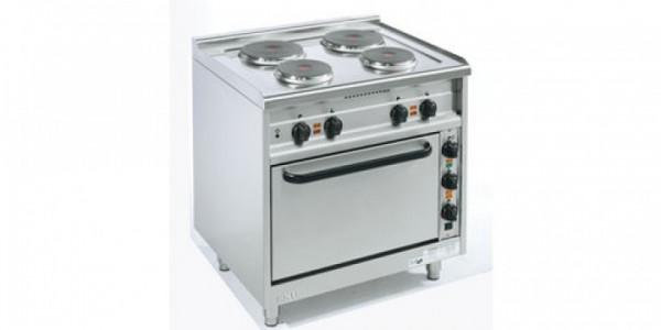 Elektroherde mit runden Kochplatten Bautiefe 650 mm EST-4