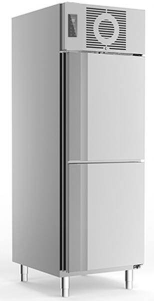 Edelstahlkühlschrank KU 725 2-türig