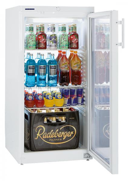 Flaschenkühlschrank mit Glastür FK 2642