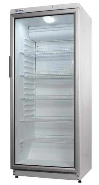 Glastür-Kühlschrank mit LED-Beleuchtung und weißem Türrahmen CD 290