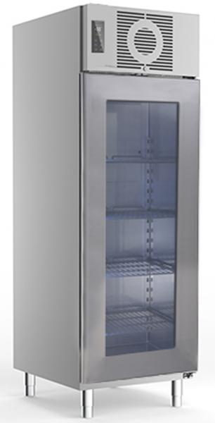 Edelstahl Glastürtiefkühlschrank TKU 725 G