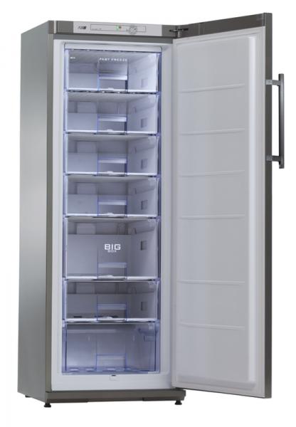 Energiespar-Tiefkühlschrank TK 310 CHR Edelstahl