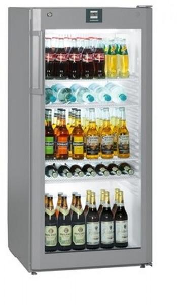 Flaschenkühlschrank mit Umluftkühlung und Glastürkühlschrank FKvsl 2613