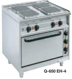 Elektroherde mit quadratischen Kochplatten Bautiefe 650 mm Q-650-EST-4