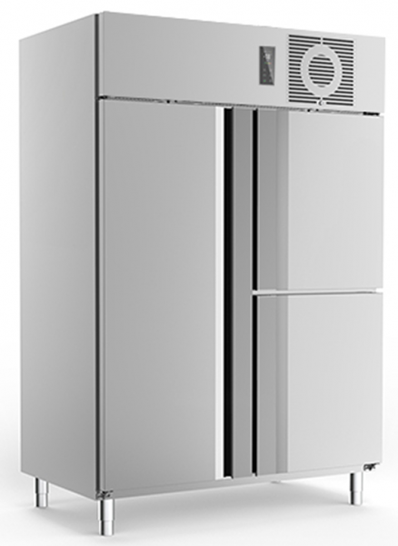 Edelstahl Tiefkühlschrank TKU1425 3türig