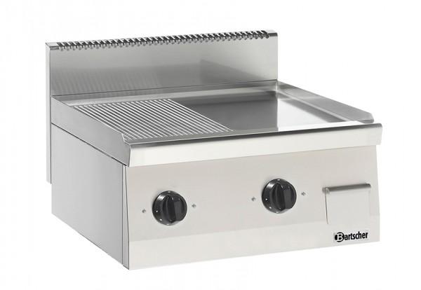 Elektro-Grillplatte 1/2 glatt 1/2 gegrillt