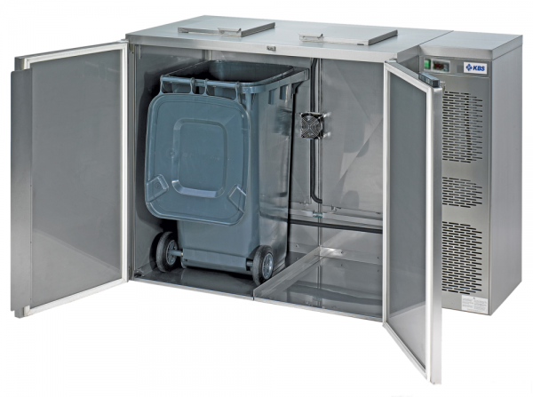 Nassmüllkühler für 2 Tonnen NMK 480 ZK Zentralkühlung