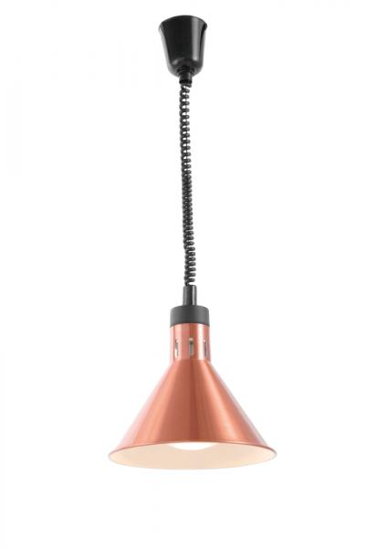 Infrarot Heizlampe Kupfer eloxiert inkl. Leuchtmittel
