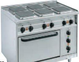 Elektroherde mit quadratischen Kochplatten Bautiefe 650 mm Q-650-EH-6