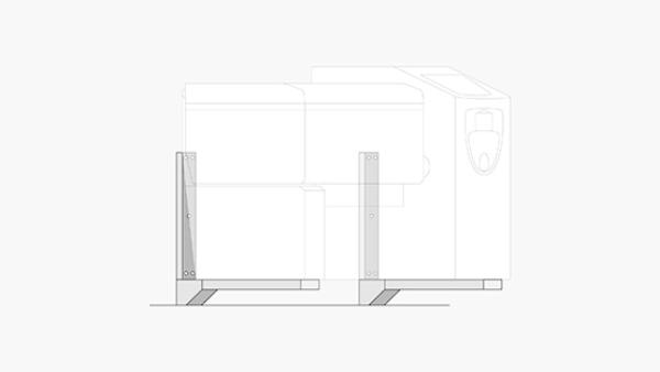 Wandaufhängungskit inkl. Dichtungssockel für VarioCookingCenter Typ 211,311