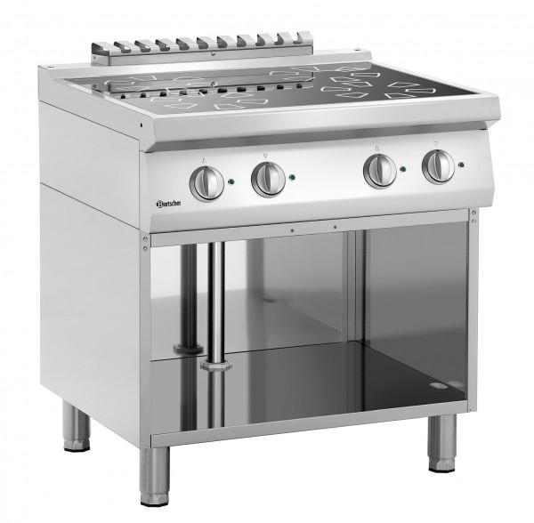 4 Kochstellen Induktionsherd mit eingebauten Fettfilter B800