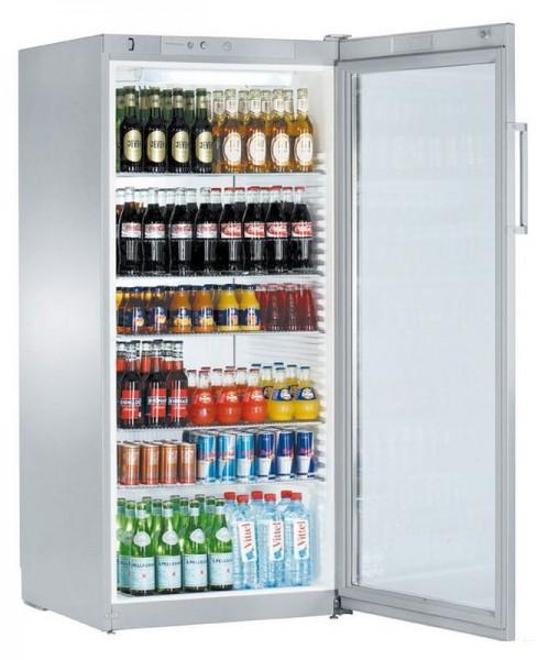 Flaschenkühlschrank mit Umluftkühlung und Glastürkühlschrank FKvsl 5413