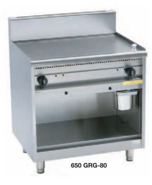 Gas-Grillplatten 650-GRG-60-C hartverchromt