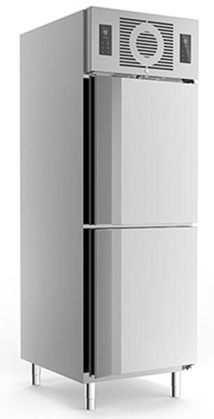 Edelstahlkühlschrank KU 725 2-türig mit Trennwand